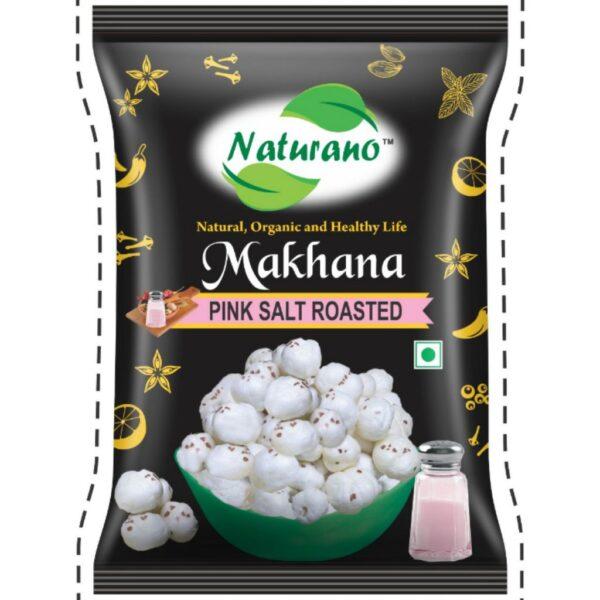 naturano makhana pink salted, naturano, naturano.in, naturano snacks, dry fruits namkeen, naturano dry fruits namkeen, naturano chakhna